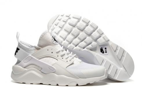 Nike Air Huarache Run Ultra BR Triple White Men Running Shoes Sneakers 819685 101