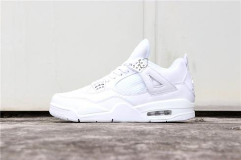 uk cheap sale 100% top quality release info on Nike Air Jordan 4 Retro Pure Money White 308497-100