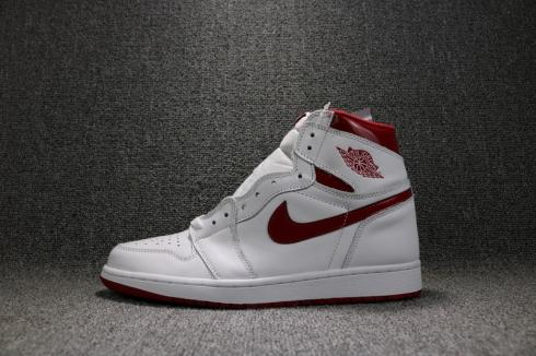Nike Air Jordan 1 Retro High OG Metallic Red White Varsity Red 555088-103