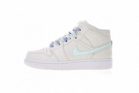 9dfb62dc730b09 Prev Nike Air Jordan 1 Mid Gg Multi Color Swoosh Phantom Purple Rise Igloo  555112-035