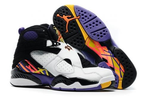 402175d463fc57 Nike Air Jordan 8 Retro Three Peat White Infrared 23 Black 305381 142 Item  No. 305381-142