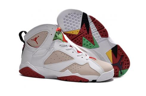 the latest 8a2bf 719af Nike Air Jordan 7 VII Retro Olympic White Gold Obsdn Red 304775 135 ...