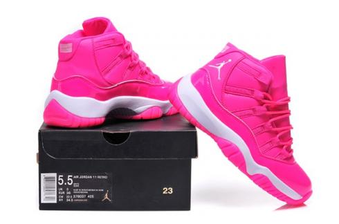 the latest cb49e 3ccd4 Nike Air Jordan Retro XI 11 Pink White Women Shoes 378038