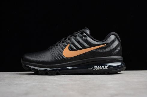 Nike Air Max 2017 Black Anthracite Orange Reflective Shoes 849559 993