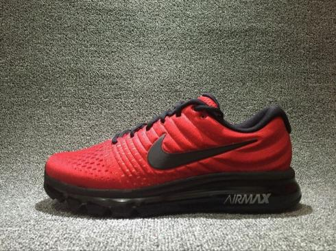 Nike Air Max 2017 Red Black Reflective Breathable 918091-993