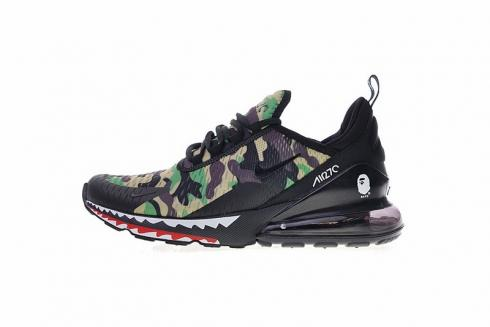A Bathing APE x Nike Air Max 270 Shark Army Green Camouflage AH6799 003