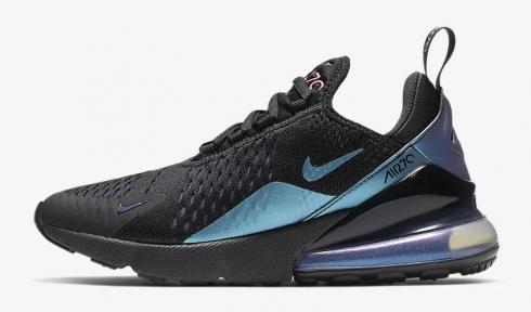 Nike Air Max 270 Black Regency Purple Anthracite Laser Fuchsia