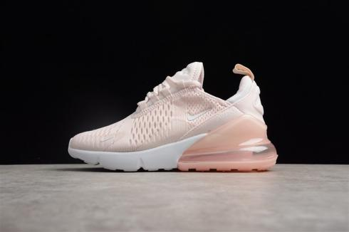 Nike Air Max 270 Flyknit Pink White Small Swoosh AH8050 601