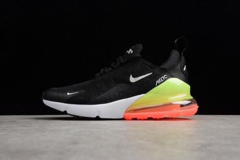Nike Air Max 270 Se Black White Green Orange Running Shoes Aq9164