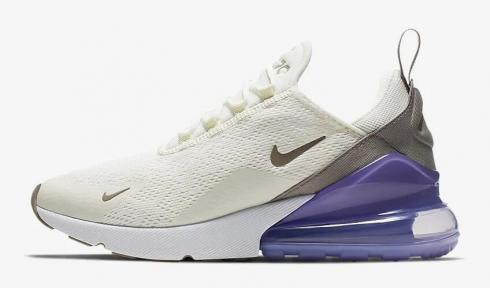 Nike Air Max 270 Sail Space Purple White Pumice AH6789-107