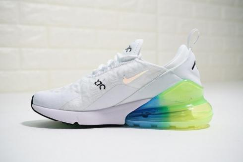 Nike Air Max 270 White Rainbow Multi Color Sneakers AH6789