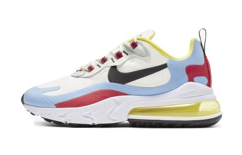 Nike WMNS Air Max 270 React Bauhaus Phantom Black Light Blue University Red AT6174 002