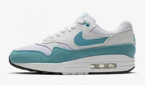 Nike Air Max 1 White Black Light Blue Fury 319986-117