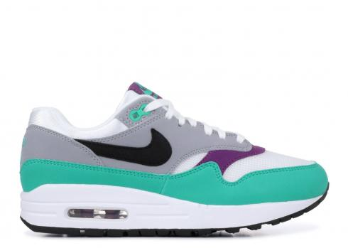 Nike Air Max 1 White Green Wolf Grey Black 319986 115