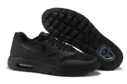 cheap for discount good out x online for sale Nike Air Max 1 Ultra Essential Triple Black Men Women Running Shoes  819476-001
