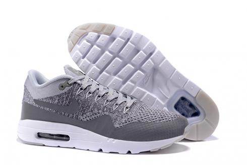 low price 9cea4 cc478 Prev Nike Air Max 1 Ultra Flyknit Men Shoes Wolf Grey Dark Grey White 843384 -001