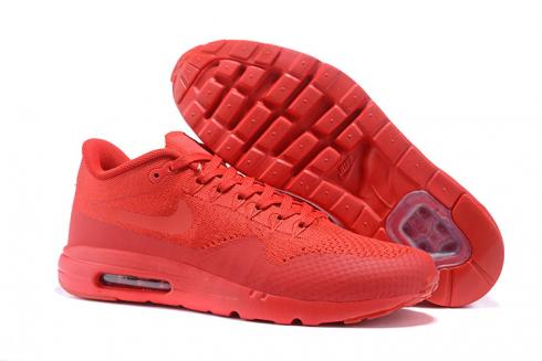 new style f7198 7d2cb Prev Nike Air Max 1 Ultra Flyknit Men Women Lifestyle Running Shoes Crimson Red  White 843384-