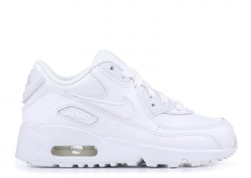 Nike Air Max 90 Ltr Little Kids White Athletic Shoes 833414 100