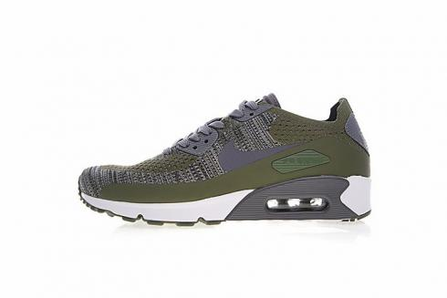 online store 6becf 24467 Nike Air Max 90 Ultra 2.0 Flyknit Rough Green Dark Grey White 875943-300