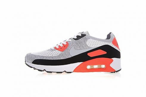 new style ceaca 79364 Nike Air Max 90 Ultra 2.0 Flyknit White Wolf Grey Crimson 875943-100