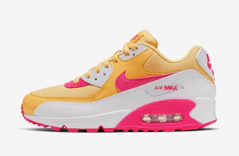 Nike Air Max 90 Womens Yellow Pink White 325213 702