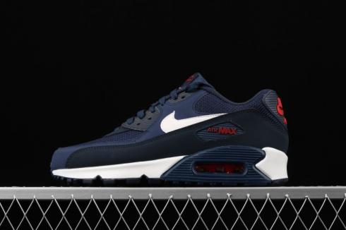 Nike Air Max 90 Essential Dark Blue White Red AJ1285 403