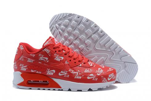 Nike Air Max 90 Essential Red White Athletic Sneakers Classic 537384 002
