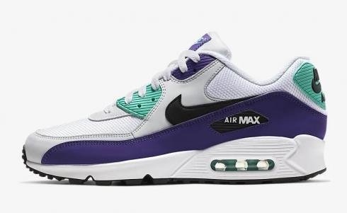 Nike Air Max 90 Essential White Hyper Jade Court Purple Black AJ1285 103