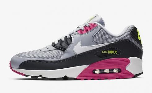 Nike Air Max 90 Essential Wolf Grey Rush Pink Volt White AJ1285 020