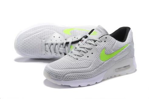Nike Air Max 90 Ultra BR Silver Grey White Green Running Sneakers Shoes 725222