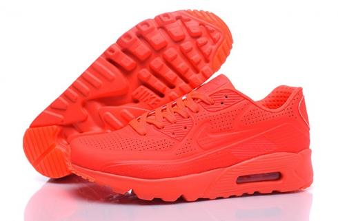 Nike Air Max 90 Ultra Moire Bright Crimson Men Running Shoes Trainers 819477 600