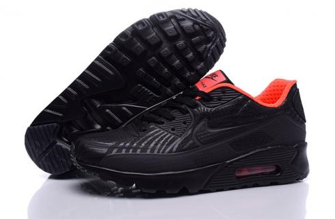 Nike Air Max 90 Ultra Moire Triple Black Red Men Running Shoes Sneakers 819477 012