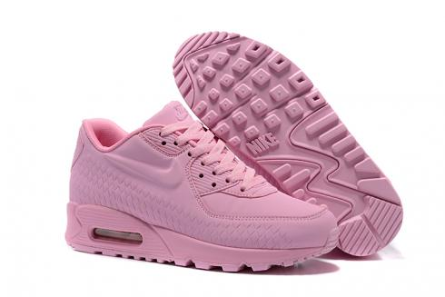 Nike Air Max 90 Woven Women Shoes Women Training Running Shoes Light Pink 833129 012