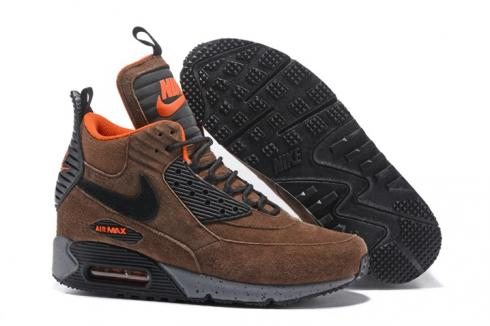 Nike Air Max 90 Sneakerboot Winter Suede Bronze Brown Orange 684714 020