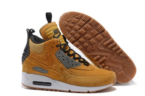 Nike Air Max 90 Sneakerboot Winter Suede Bronze Brown Orange