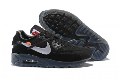 OFF WHITE x Nike Air Max 90 OW Men Running Shoes Black All Silver