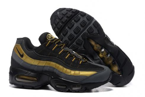 for whole family online retailer official supplier Nike Air Max 95 PRM Black Metallic Gold Anthracite Bronze 538416-007