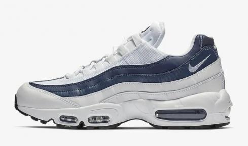 Nike Air Max 95 Essential White Midnight Navy Monsoon Blue 749766