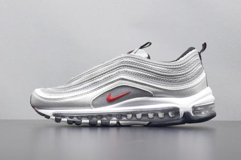 Nike Air Max 97 OG QS Bullet Metallic Silver Red 884421 001
