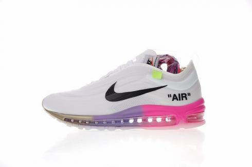 new concept 80eba f412a Off White x Nike Air Max 97 Wolf Grey White Menta Rainbow AJ4585-012 ...