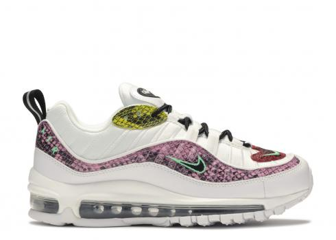 Nike Air Max 98 Snakeskin WMNS White Pink Red Green Yellow BV1978-100