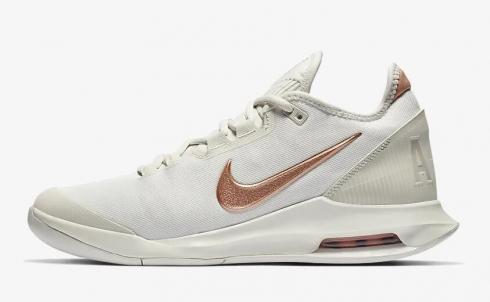 NikeCourt Air Max Wildcard Phantom Rose Gold Metallic Red Bronze AO7353-066