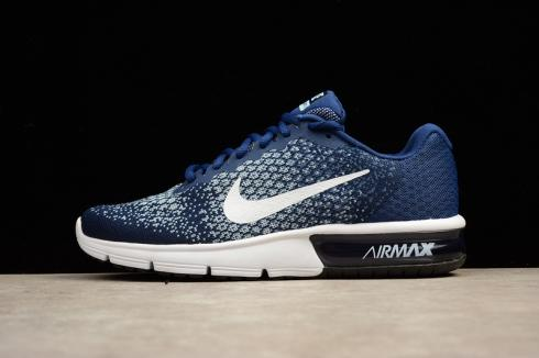 Nike Air Max Sequent 2 Running Shoe Blue White 852461 400