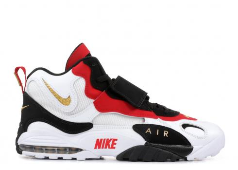 Nike Air Max Speed Turf 49ers White Black Gym Red 525225 101