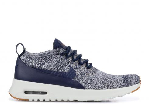 Nike Air Max Thea Ultra FK Flyknit College Navy Women Running 881175-402