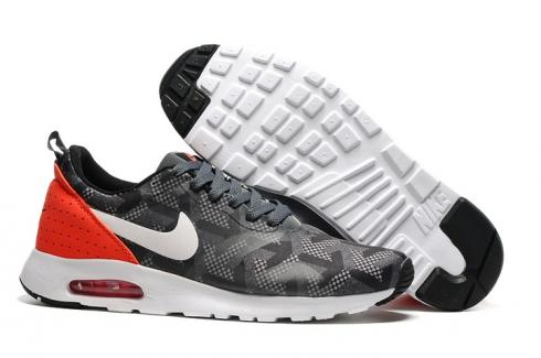 Nike Air Max Tavas SE Grey Red Men Running Shoes Sneakers Trainers 718895 006