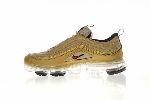 buy popular 34b24 ed15c Nike Air VaporMax 97 Gold Bullet University Red Black AO4542-003