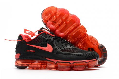 Off White Nike Air Max 2018 90 KPU Running Shoes Black Red