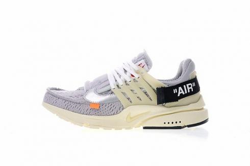 acheter en ligne 8f80d 7a9dd Nike Air Presto Off White Light Grey Beige Black Orange AA3830-002