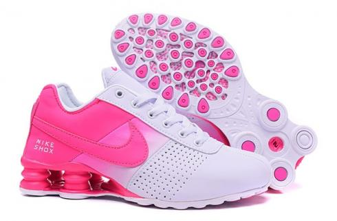 Nike Shox Deliver Women Shoes Fade White Fushia Pink Casual Trainers  Sneakers 317547
